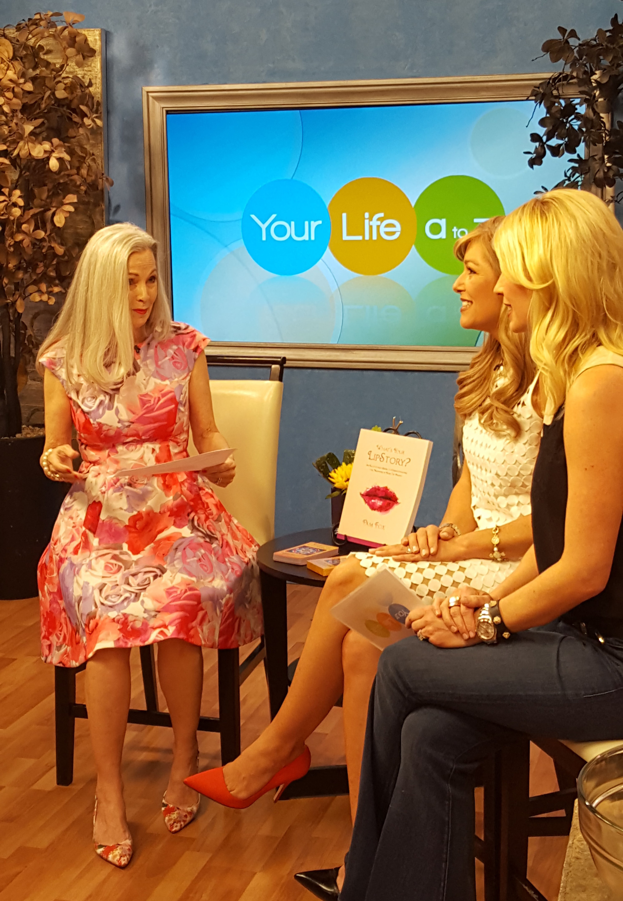 "Pam talks about her book ""What's Your LipStory?"" on Channel 3, Your Life A-Z."